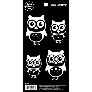 "Owl Family Stickers - 4"" x 8"""