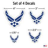 Set of 4 Air Force Stickers
