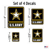 Set of 4 Army Stickers