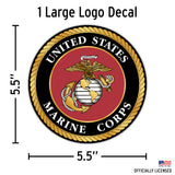 USMC decals for cars
