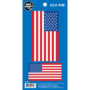 USA American Flag Car Stickers 2 Fun Size Decals