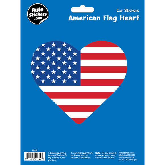 USA Flag Heart Decal