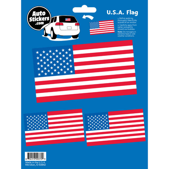 USA American Flag Decals