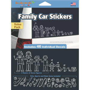 White Line Family Stickers - Value Kit