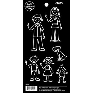 "Family Stickers - 4"" x 8"""