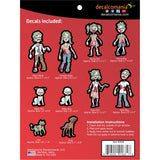 Zombie Family Stickers Value Kit