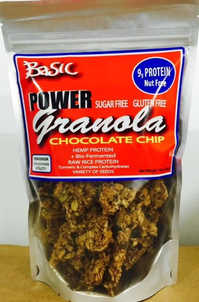 Power Granola - Basic with Chocolate Chips - Healthy Cookies Direct