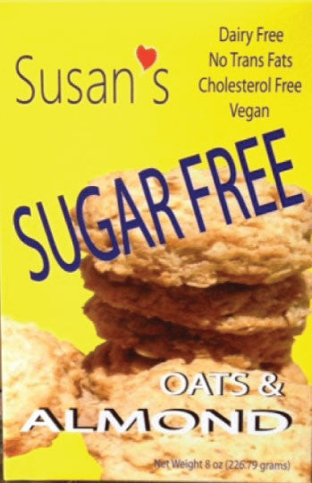 Susan's Sugar Free - Vegan - Almond - Healthy Cookies Direct
