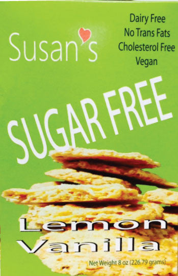 Susan's Sugar Free Vegan Cookies - Lemon-Vanilla - Healthy Cookies Direct