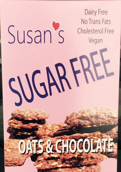 Susan's Sugar Free Vegan cookies - Chocolate - Healthy Cookies Direct