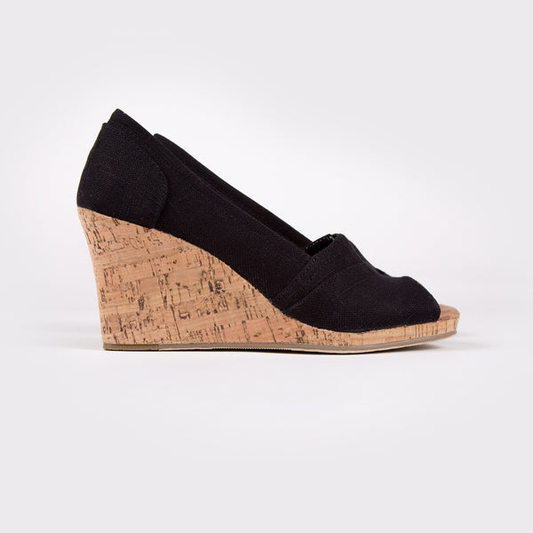 Women's Linen With Rope Wedge
