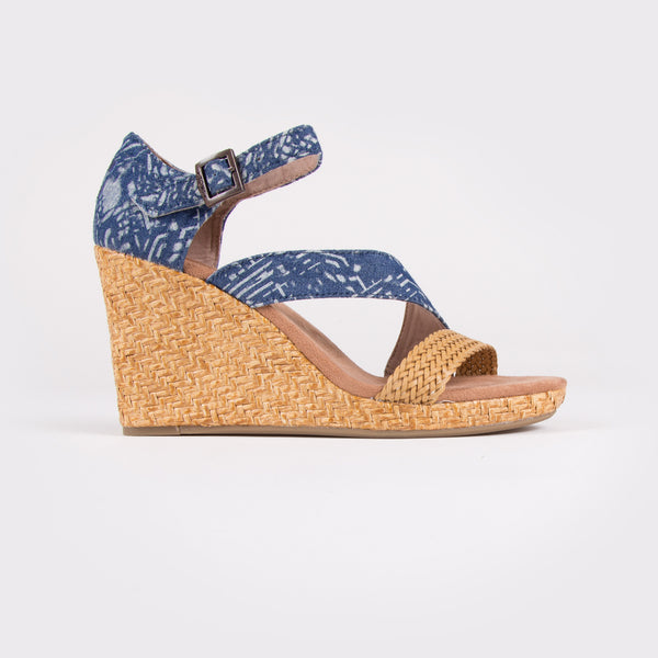 Women's Batik Textile Wedge