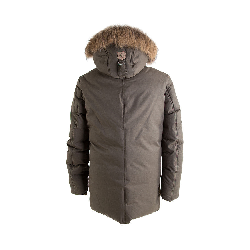 Men's EDWARD-F5 Army Luxe Down Parke with Fur Hood