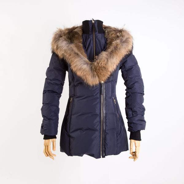 Women's AKIVA Winter Down Coat With Fur Hood