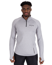 Performance Zip Top - Silver Grey