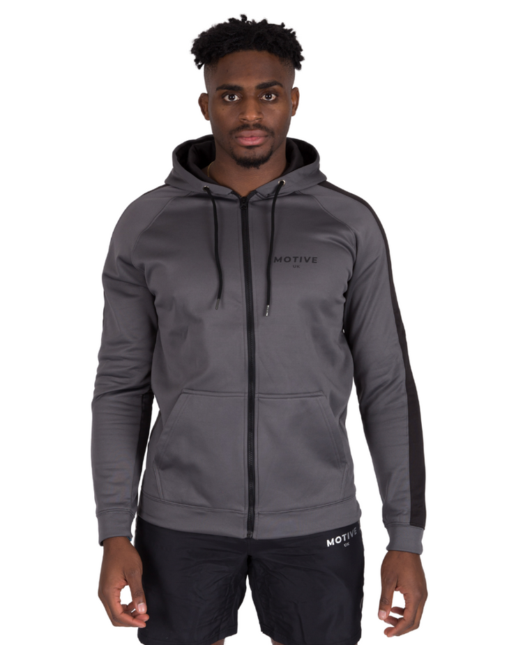 Sports Hoodie - Grey/Black