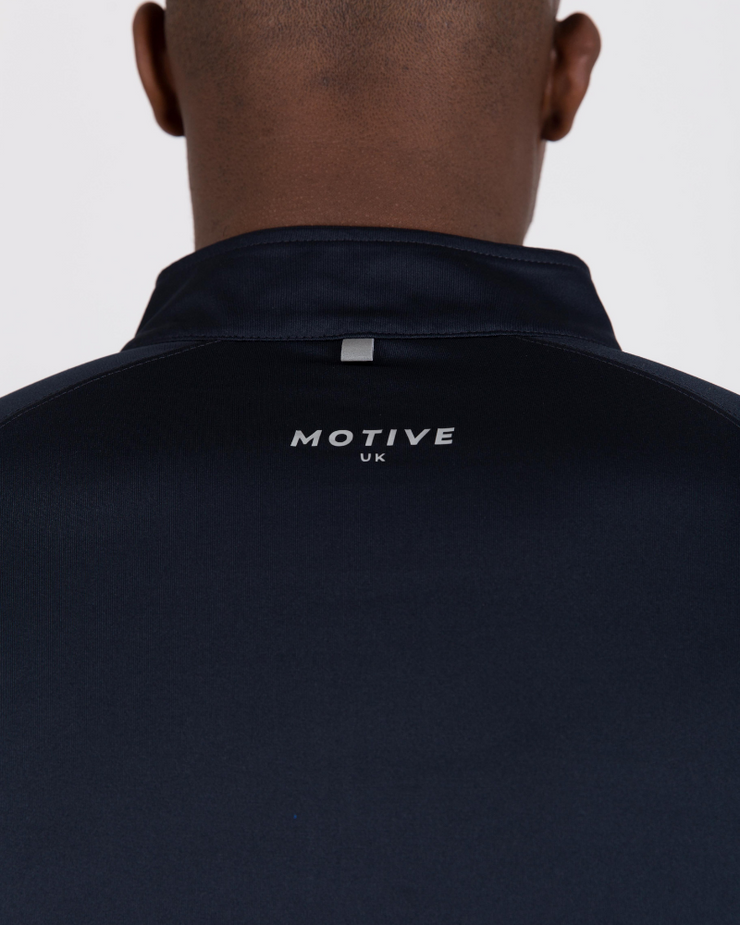 Performance Zip Top - Navy
