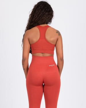 Seamless Sports Bra - Rust
