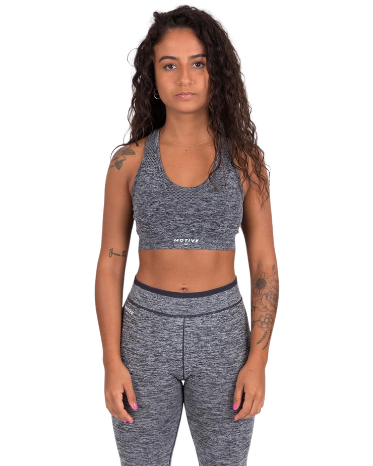 Seamless Sports Bra - Grey Marl