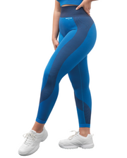 Panelled Leggings - Blue