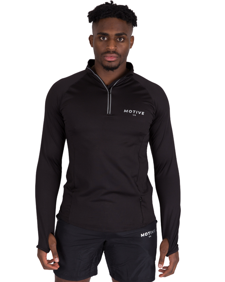 Performance Zip Top - Black