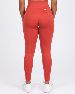 Seamless Sports Leggings - Rust
