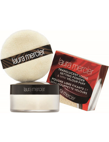 Translucent Loose Setting Powder  (travel size) With  Free Puff 9g