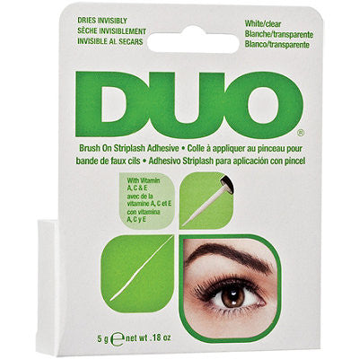 DUO BRUSH ON LASH ADHESIVE - WHITE/CLEAR