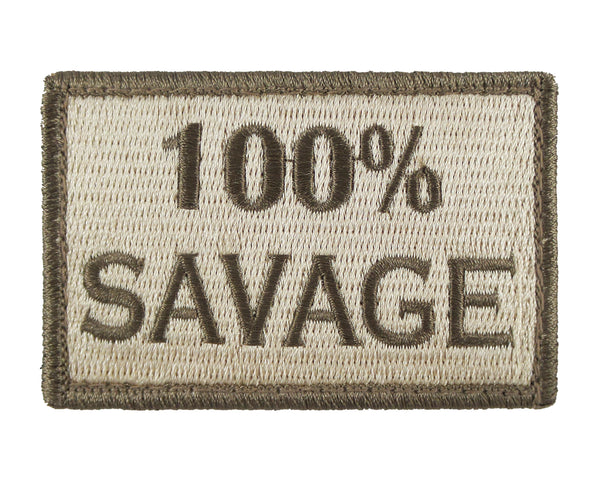 100% Savage Tactical Velcro Fully Embroidered Morale Tags Patch