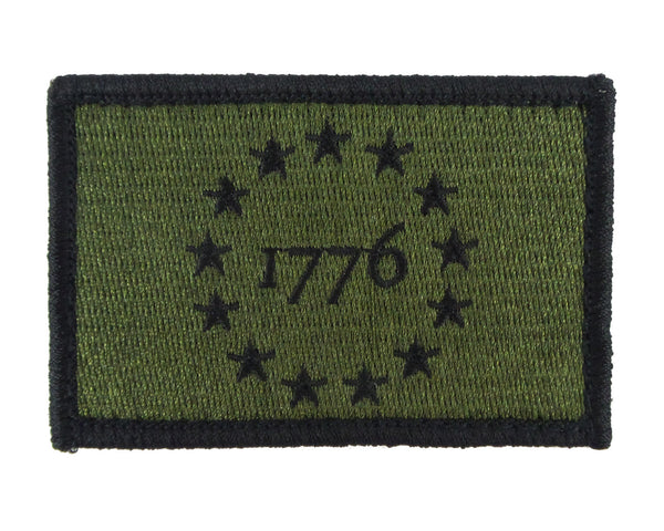 1776 Patriot Tactical Velcro Fully Embroidered Morale Tags Patch