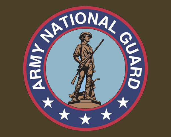 "Army National Guard Emblem ARNG Logo Vinyl Decal Sticker for Cars Trucks Laptops etc. 5"" Round"