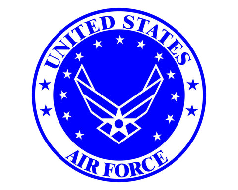 "Air Force Emblem USAF Logo Vinyl Decal Sticker for Cars Trucks Laptops etc. 5"" Round"