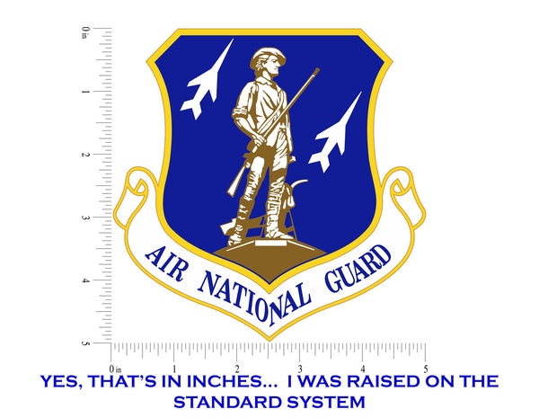 Air National Guard Emblem ANG Logo Vinyl Decal Sticker for Cars Trucks Laptops etc. 5""