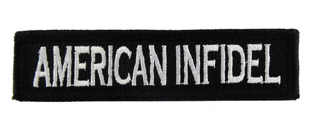 American Infidel 1x4 Velcro Fully Embroidered Morale Tags Patch