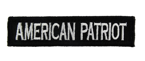 American Patriot 1x4 Velcro Fully Embroidered Morale Tags Patch