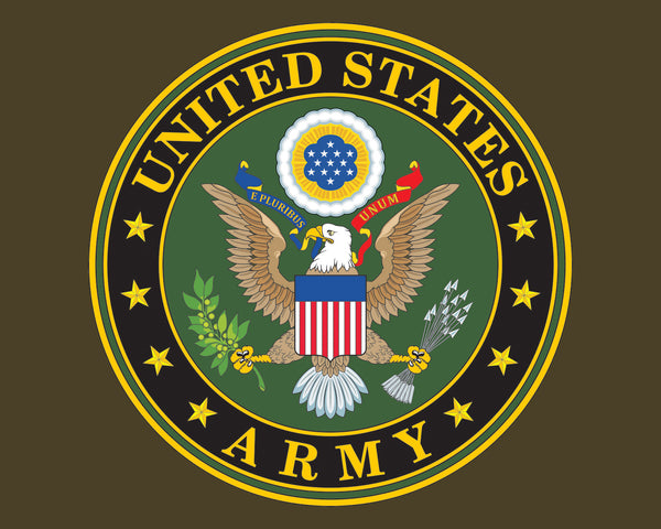 "Army Emblem US Army Logo Vinyl Decal Sticker for Cars Trucks Laptops etc. 5"" Round"