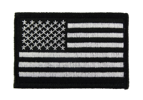USA American Flag Tactical Velcro Fully Embroidered Morale Tags Patch