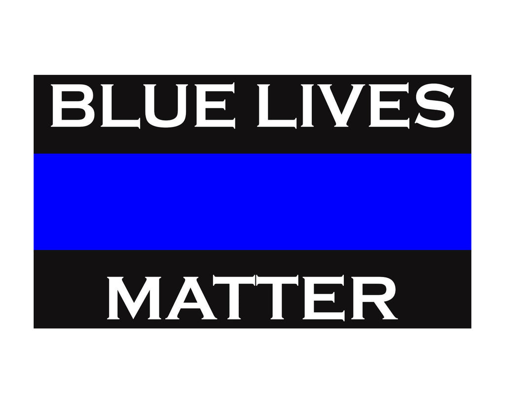 Blue Lives Matter Thin Blue Line Police Support Vinyl Decal Sticker 3x5 for Cars Trucks Laptops etc. …