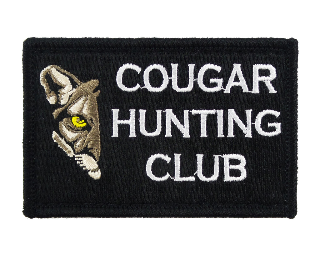 Cougar Hunting Club Tactical Velcro Fully Embroidered Morale Tags Patch