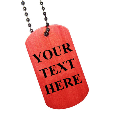Custom Text Only Dog Tag
