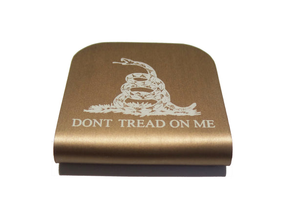 Don't Tread On Me Hat Clip Gadsden Flag