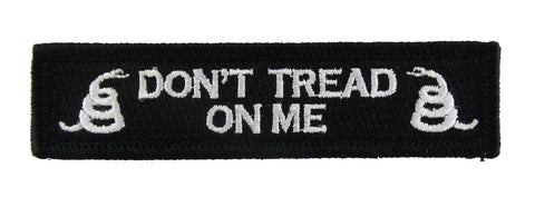 Don't Tread on Me Tactical Velcro Fully Embroidered Morale Tags Patch
