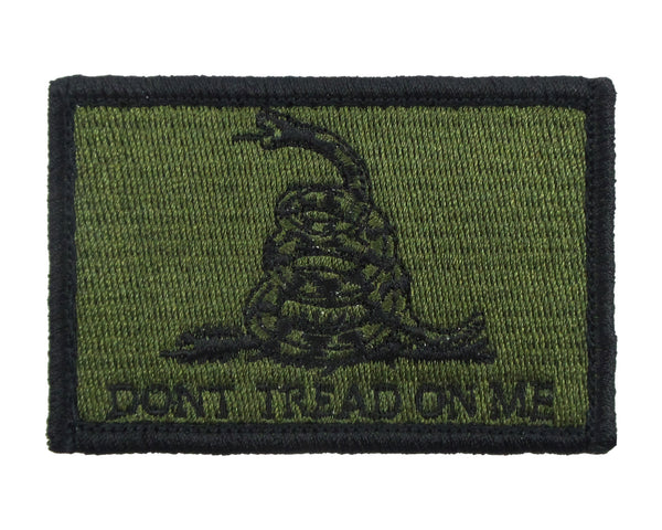 Dont Tread On Me Gadsden Flag Tactical Velcro Fully Embroidered Morale Tags Patch