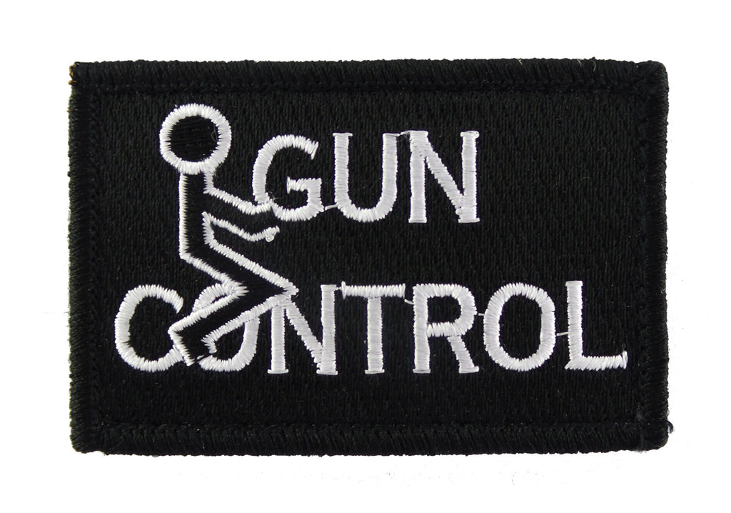 Fuck Gun Control Velcro Tactical Funny Morale Tags Patch