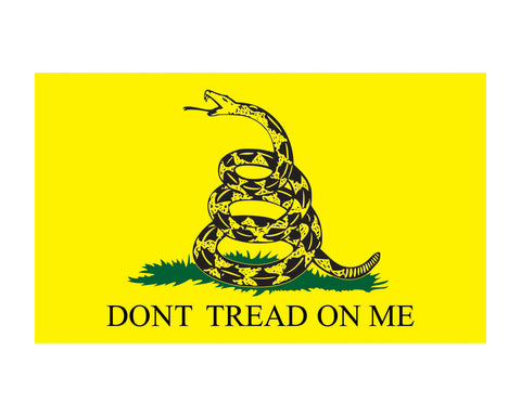"Gadsden Flag Don't Tread on Me Window Decal 3x5"" Vinyl Sticker"