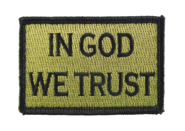 In God We Trust Tactical Velcro Fully Embroidered Morale Tags Patch