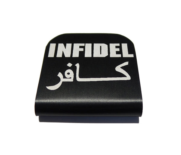 Infidel Arabic and English Hat Clip