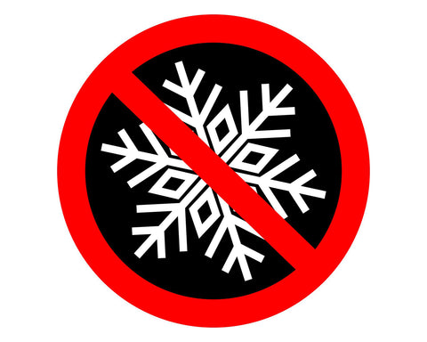"No Snowflakes 5"" Round Humorous Funny Decal Sticker for Cars Trucks Laptops etc.."