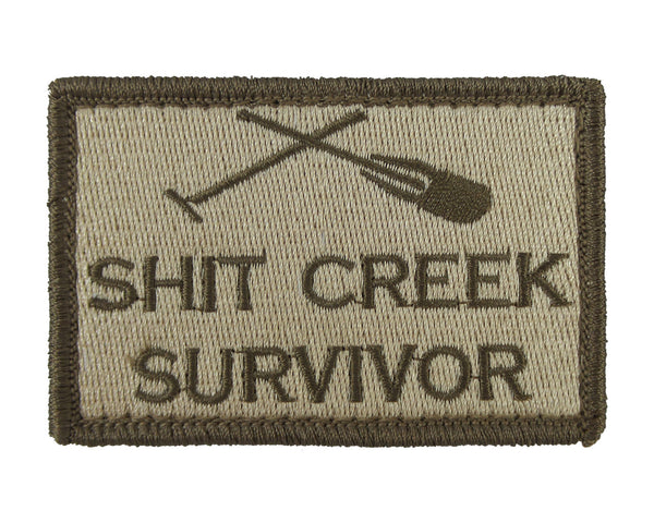 Shit Creek Survivor Tactical Velcro Fully Embroidered Morale Tags Patch