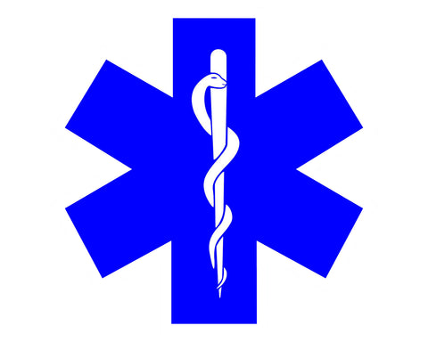 Star of LIfe EMT Vinyl Decal Sticker for Cars Trucks Laptops etc... 5 x 5
